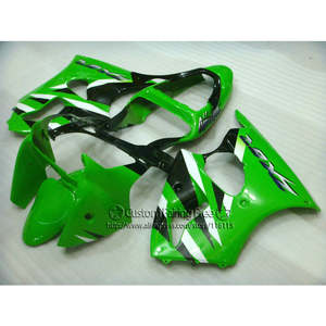 Free 7 gifts fairing kit for Kawasaki Injection molding ZX 6R 2000-2002 ABS green black fairings Ninja 636 ZX6R 00 01 02 HA77