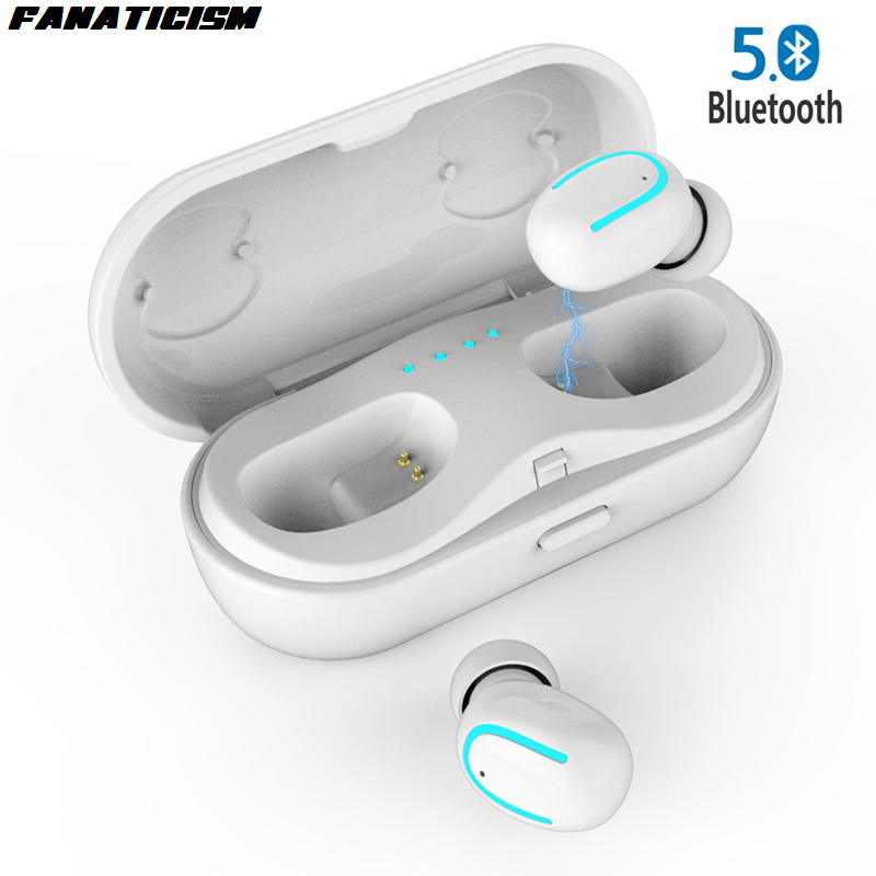 50pcs Wireless Earphones Bluetooth 5.0 Earphone Tws Auriculares Earbuds Ecouteur Handsfree for Mobile Phone In-Ear Sport HBQ Q18