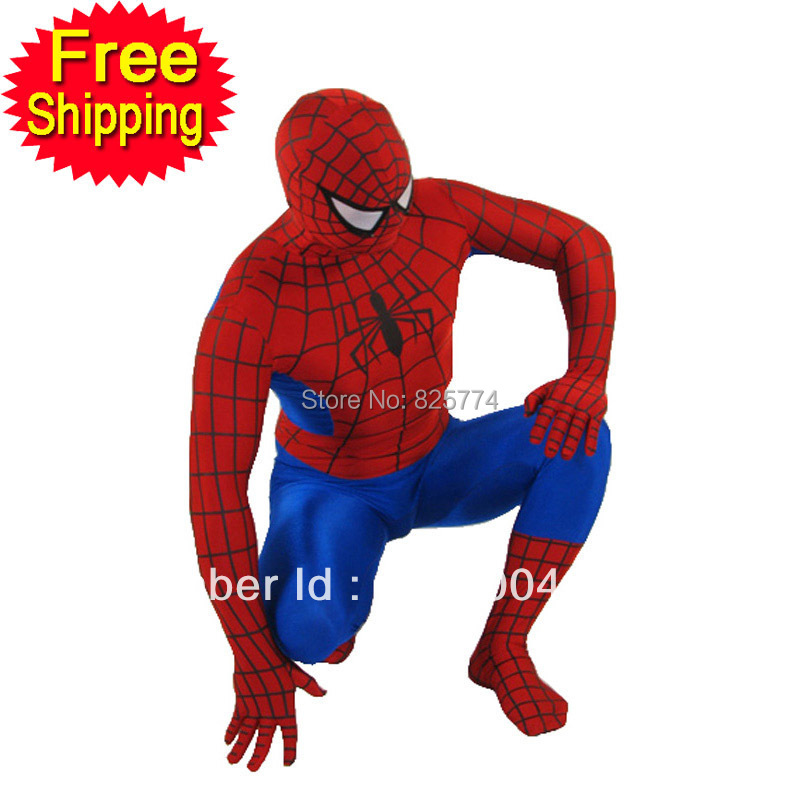 red <font><b>Spiderman</b></font> <font><b>costume</b></font> adult Halloween <font><b>costumes</b></font> for <font><b>men</b></font> superhero cosplay spandex Full bodysuit zentai <font><b>plus</b></font> <font><b>size</b></font> custom