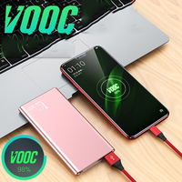 10000mah Power Bank Vooc Dash Powerbank 5V 4A Charger for Oneplus 7 Pro 7T 5T 5 6 6T 3T Oppo Reno Find X R17 R15 R11 Fast Charge