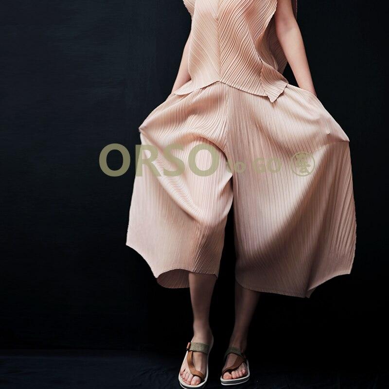 Zomer Nieuwe Mode Harembroek Dames Losse Casual Asymmetrische Grote Maat Zwarte Broek Vrouwen Chic Elastische Geplooide Broek-in Broek & capris van Dames Kleding op  Groep 2