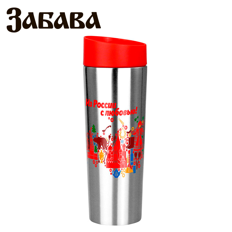 ZABAVA RK-0407M Hot cup 400ml Vacuum Flask Thermose Travel Sports Climb Thermal Pot Insulated Vacuum Bottle Stainless Steel korean penguin vacuum cup water bottle mug coffee tea stainless steel thermos food jar thermal container insulated soup holder