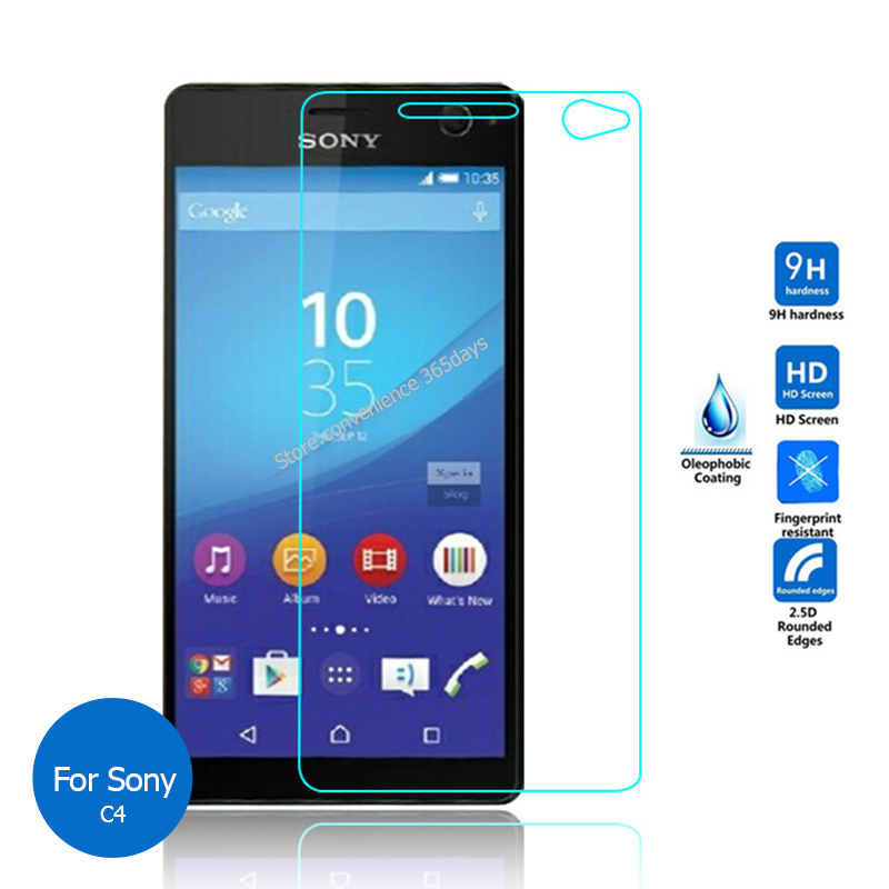 2PCS For <font><b>Sony</b></font> <font><b>Xperia</b></font> C4 Tempered Glass Screen Protector 9h Safety Glass on C 4 Dual E5303 <font><b>E5333</b></font> E 5303 5333 image