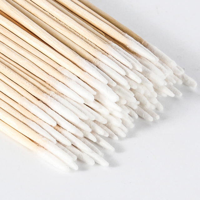 300pcs/bag Cotton Buds Swabs 7cm Long Wooden Handle Tattoo Makeup Microblade Cotton Swab Sticks Makeup Cotton Swabs 2