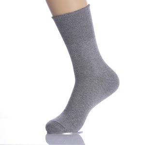 Image 3 - 5 paren/partij Mannen Sokken Katoen Lange Goede Kwaliteit Business Harajuku Diabetische Pluizige Sokken Meias Masculino Calcetines geen doos
