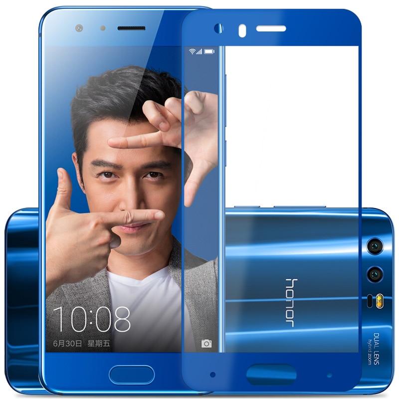 Закаленное стекло для Huawei Honor 9, 2.5D полноэкранная серая защитная пленка 5,15