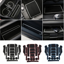 Door Slot Pad Mat Cup Holder for Subaru Forester 2019 2020 Car Interior Accessories White Red Blue 18pcs/1set Modeling Styling