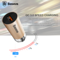 Baseus Qualcomm Quick Charge QC3.0 USB Car Charger For iPhone 7 6 6s 5s Samsung S7 S6 HTC LG Xiaomi Car Phone Charger
