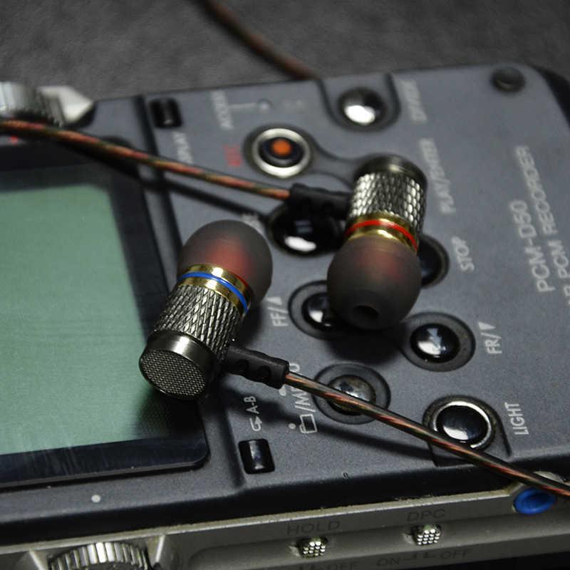 QKZ DM6 słuchawki entuzjastów bass słuchawki douszne miedzi kucie 7 MM szokujące Anti-poziom hałasu mikrofon jakość dźwięku fone de ouvido