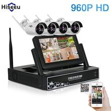 7 Inch Displayer 4CH 960P Wireless CCTV System Wireless NVR IP Camera IR-CUT Bullet Home Security System CCTV Kit Hiseeu