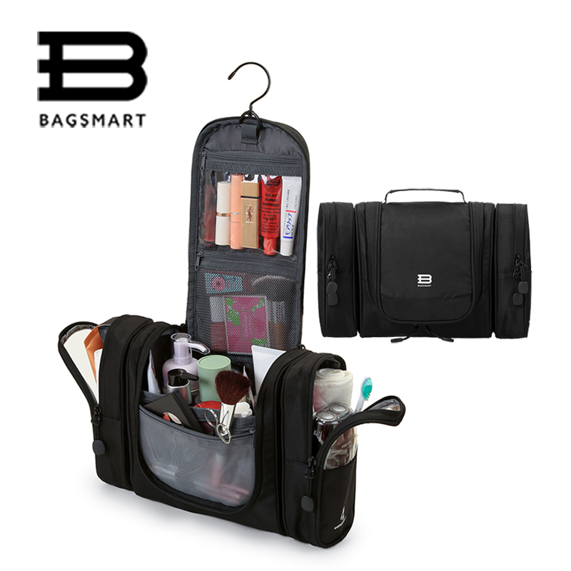 BAGSMART Beautician Travel Cosmetic Bag Luggage Organizer Toiletry Bags Women Make Up Bag Waterproof Bolsa Neceser