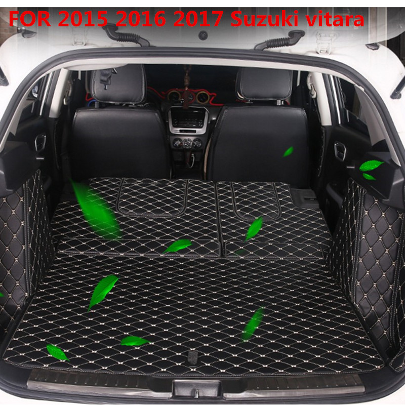 car trunk mat FOR 2015 2017 Suzuki vitara Cargo Liner Interior Accessories Carpet car styling Foot
