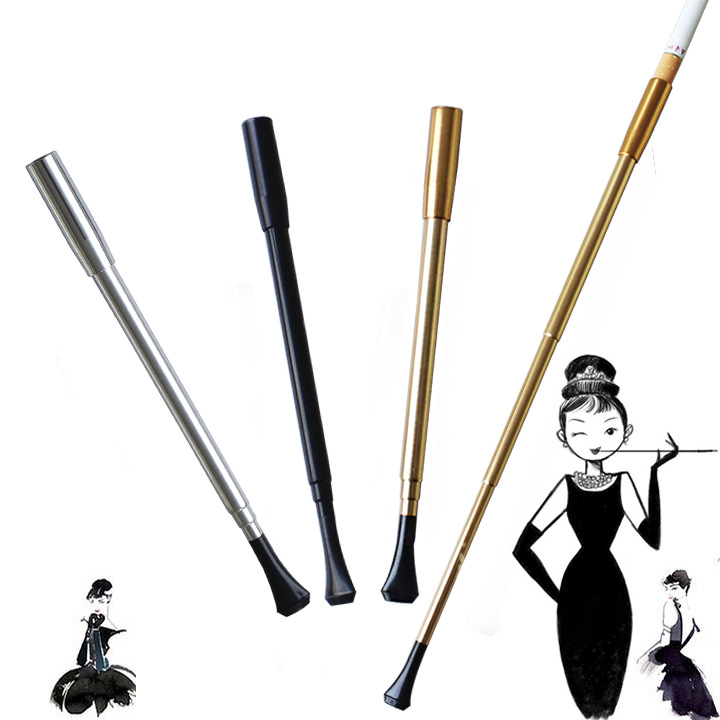 Women's long series retractable vintage cigarette holder smoking weed pipe or Photographic props Women's Slim Cigarette 5pcs/lot