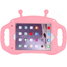 Case For iPad 2018 9.7 Silicone alien, Kids Cute Shockproof warterproof Soft Portable Protective with Bracket