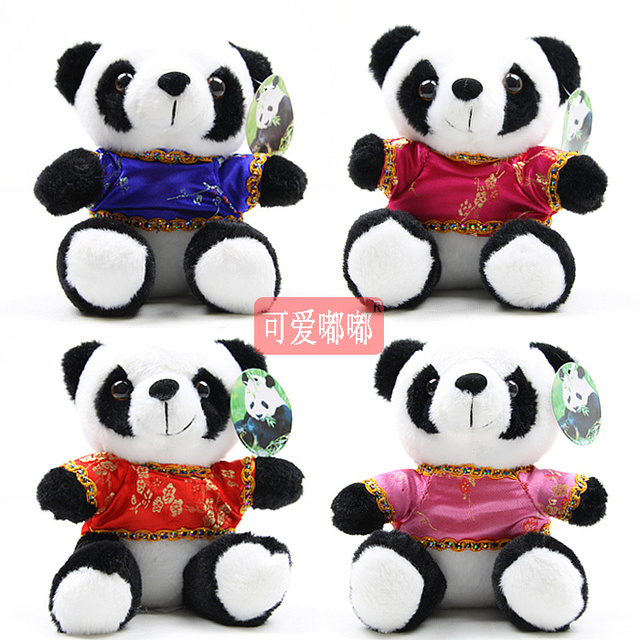 Tang suit plush giant panda plush toy panda doll birthday gift