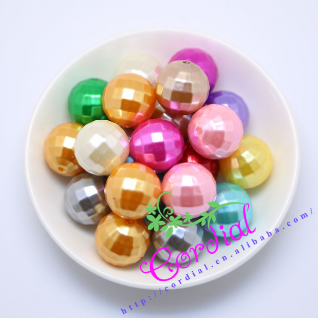 Envío gratis 20 MM resultados de la joyería ABS bola del Disco de los granos de Color surtidos 100 unids/lote facetado perlas