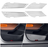 Car Stainless Steel Inner Door Protective Anti Kick Metal Sticker For Volkswagen Passat 2016 2017 door anti kick pad