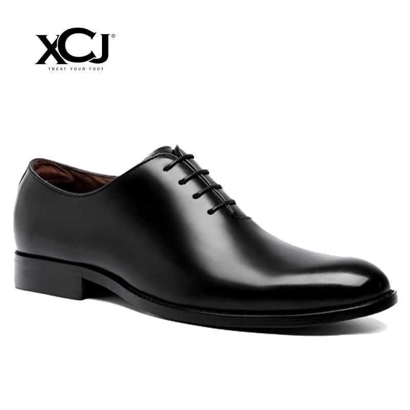Men Business Shoes Men Dress Shoes Spring Autumn Plus Big Size 46 47 Brand Gentleman PU Brogue Shoes Men Formal Shoes XCJ цена
