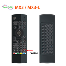 MX3 MX3-L Air Fly Mouse 2.4GHz Wireless Keyboard Remote Control Somatosensory IR Learning Mic for Android TV Box