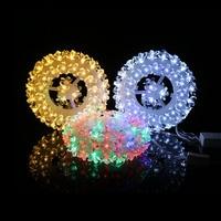 New 87PCS rose round Tire shape Sky stars String Lights Xmas Lovers Wedding Party Bedroom Decorations Fairy Lamp Diameter 18.6cm