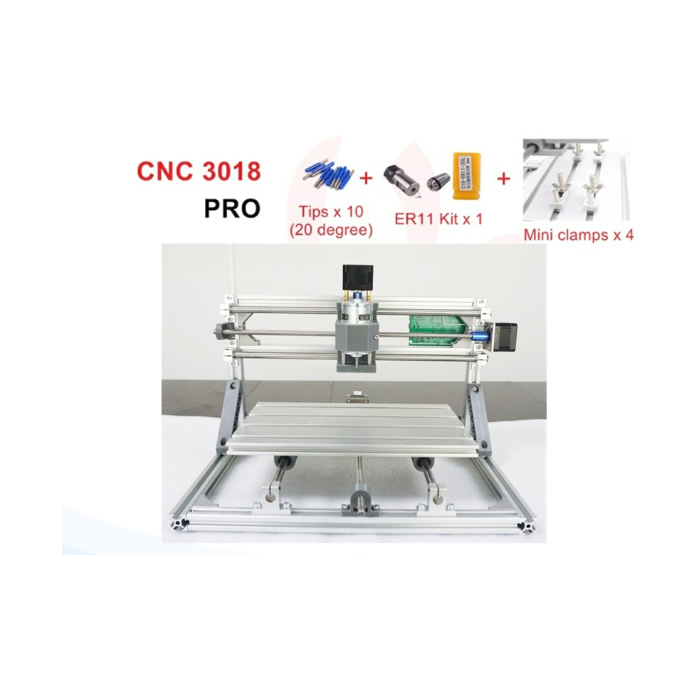 Upgraded CNC laser machine 3018+500mw/2500mw/550mw pcb milling router Working area 300*180*40mm with GRBL control cnc 1610 with er11 diy cnc engraving machine mini pcb milling machine wood carving machine cnc router cnc1610 best toys gifts