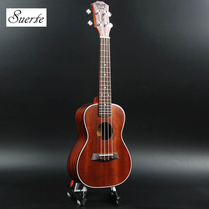 SUERTE New Arrival 23 Inch Soprano Ukulele Retro Hawaiian Guitar Rosewood Fretboard 4 Strings Mahogany Ukelele for Beginners