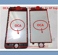20 100pcs Original Outer Glass With Bezel Frame With Oca For Iphone 6 6S 6 Plus