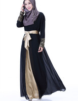 2017 Muslim Fashion Islamic Abaya Dresses For Women Dress Female Saudi Abaya For Women Chiffon Robe