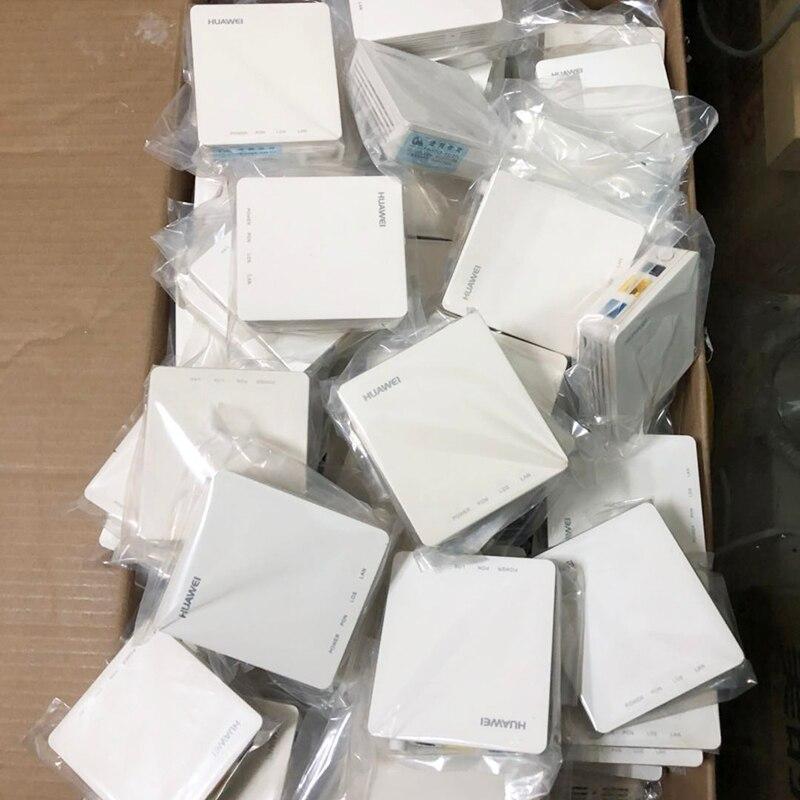 90% novos e usados equipamentos HG8310M 40 pcs Huawei Gpon Onu ont ftth de fibra óptica usado router 1GE sem poder e B