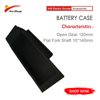 Black battery case for x48 electric scooter ebike 10x140mm aluminum alloy battery case escooter patinete eletrico ebike battery
