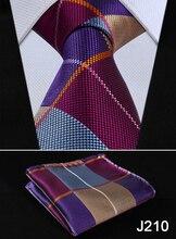 Check Floral Striped Dot 3.4″ Silk Wedding Jacquard Woven Men Tie Necktie Pocket Square Handkerchief Set Suit J2-1