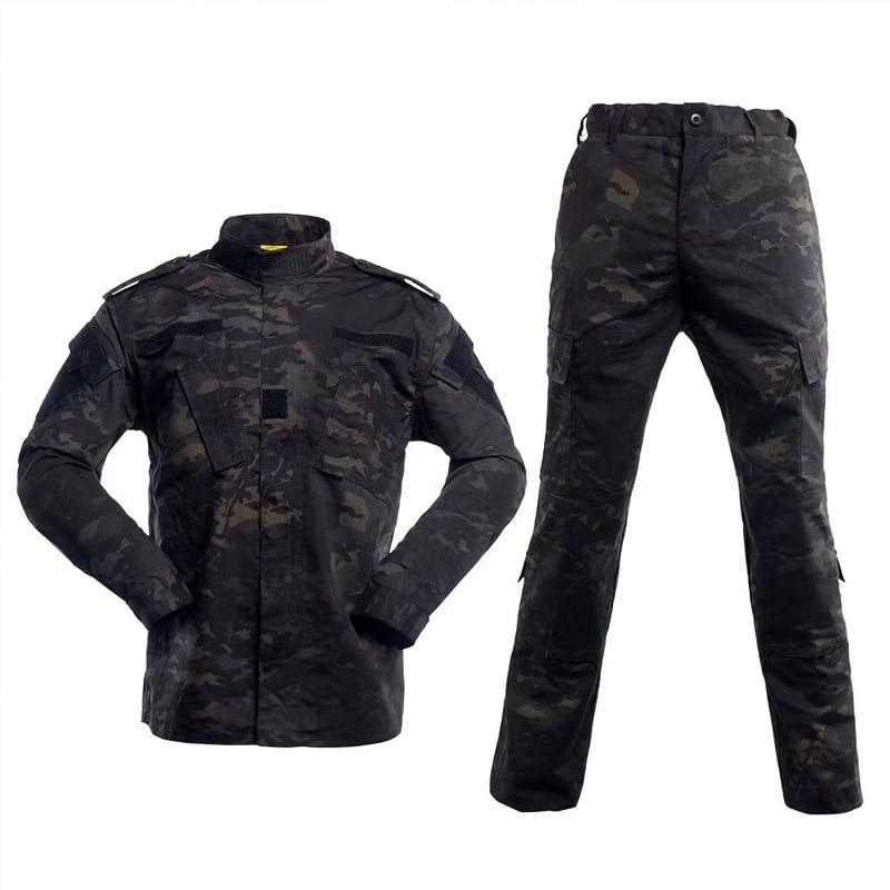 2019 NEW MCBK Military BDU Uniforms/  Multical Black  Tactical BDU Uniforms (jacket & Pants)  Tactical Cargo Pants Uniform