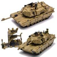 Kazi Military M1A2 Tank 1463pcs Bricks Abrams Main Battle Tank Building Block Sets Models 2in1 Toys Compatible with Legoingly