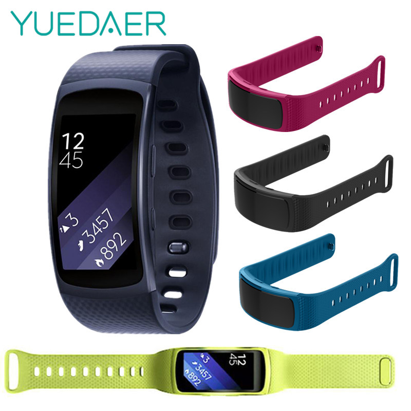YUEDAER Silicone Strap for Samsung Galaxy Gear Fit2 SM-R360 Smart Bracelet wrist strap replacement for Gear Fit2 wristbands 1:1