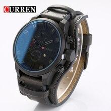 Curren Hombres Relojes de Lujo Superior Marca Casual Auto Fecha de Cuarzo Reloj Masculino de Cuero Genuino Reloj de Los Hombres relogio masculino reloj hombre