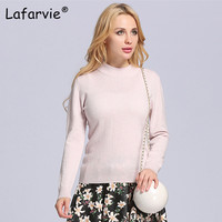Lafarvie Women Cashmere Sweaters And Pullover Autumn Turtleneck Long Sleeve Pullovers 20 Colors Women Casual Knitting