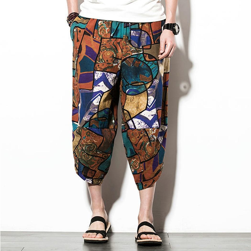 Harem Pants Clothing Leg-Trousers Loose Cotton Linen Japanese-Style Plus-Size Casual