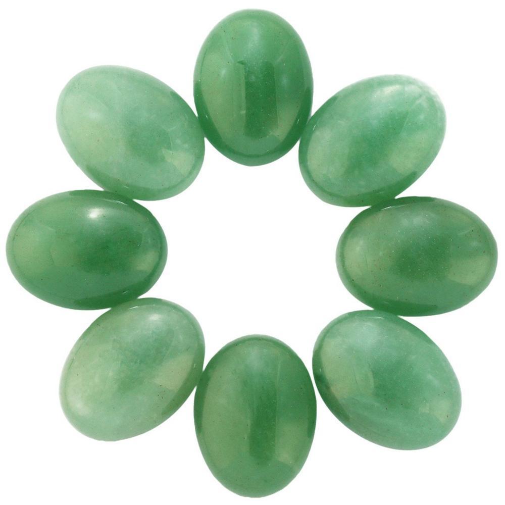 Натуральный камень каменный Агат e Кабошон бусины 22*30 мм плоское дно драгоценный камень каменный Кабошон для изготовления ювелирных изделий 10 шт./партия - Цвет: Green aventurine 10