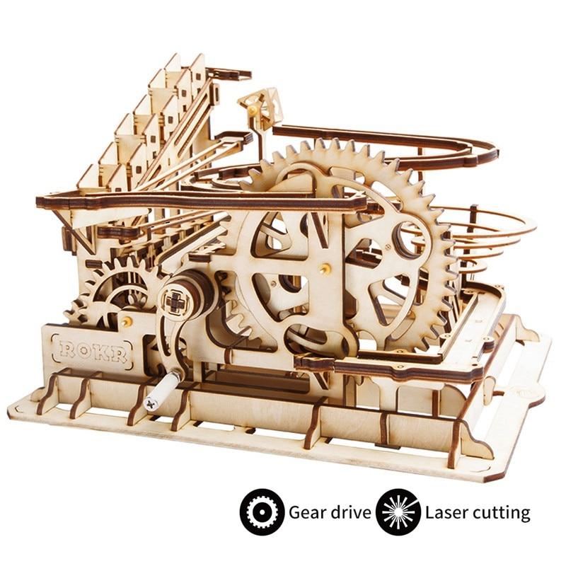 Robotime 4 Sortes bricolage Marble Run Jeu Laser De Coupe 3D puzzle en bois Jeu jouet assemblage Cadeau pour Enfants Adulte LG501