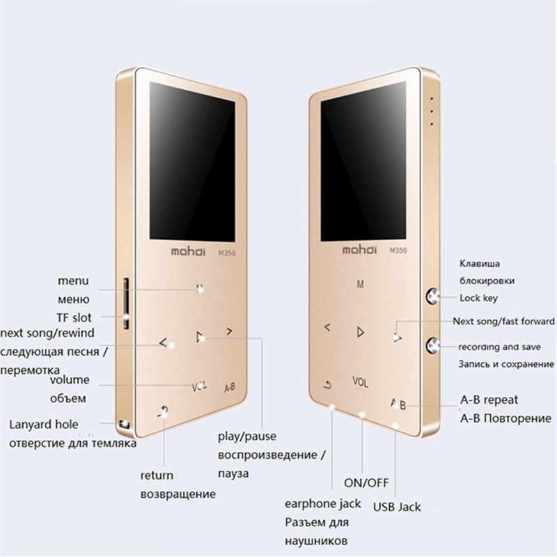Bluetooth Mp4 odtwarzacz 8 gb Radio FM cyfrowy MP3 MP4 głośnik dotykowy wideo Mini bezstratnej dyktafon odtwarzacz muzyczny wielu język