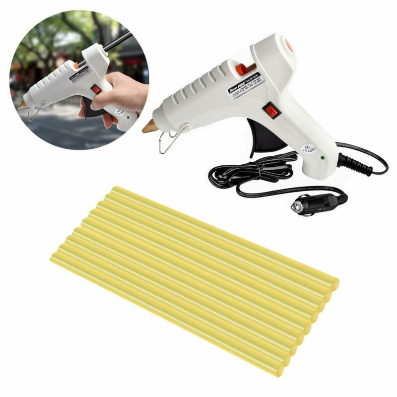 12V 60W DIY Hot Melt Glue Gun With 9 Pcs Glue Sticks Car Charger Glue Gun Repair Heat Gun For Dent Removal Paintless Dent Repair