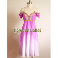 High Quality Customized Nutcracker Gradient Color Soft Ballet Dresses Nightgown Dress Long Pink Ballet Skirt Retail