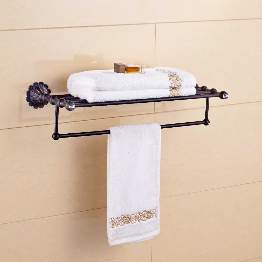 Bath Towel Rack Senlesen Unique Wall Mounted Oil Rubbed Bronze Finished Bathroom Shelf Bar In Bars From Home Improvement On Aliexpress