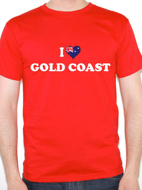 ff8697301 Daily Tee Regular O-Neck Short-Sleeve Tee Shirt I Love Gold Coast Australia