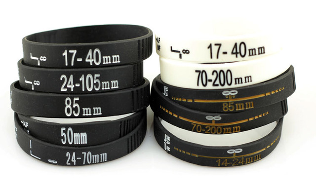 Whole Camera Lens Silicone Band Photography Gift Black White Colored Slr Wristband New Arrival Rubber