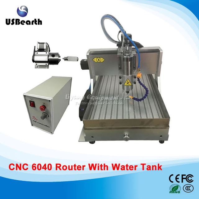 110/220V CNC6040 Engraving Machine 2.2KW CNC Spindle Metal Woodworking Machinery Milling Machine with USB and water tank