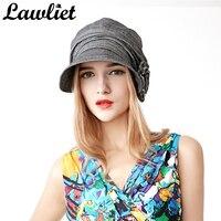 Frauen Baumwolle Hüte Mode Frauen Baskenmütze Hüte Hohe Qualität Slouchy Kappe Einstellbar Visier sonnenhut Außen Blume Design Caps