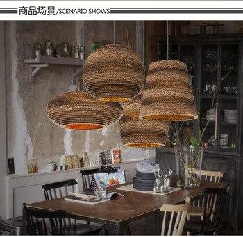Faroles De Papel Creativos Vintage Para Bar Cafetería Lámpara De Decoración 110-240 V
