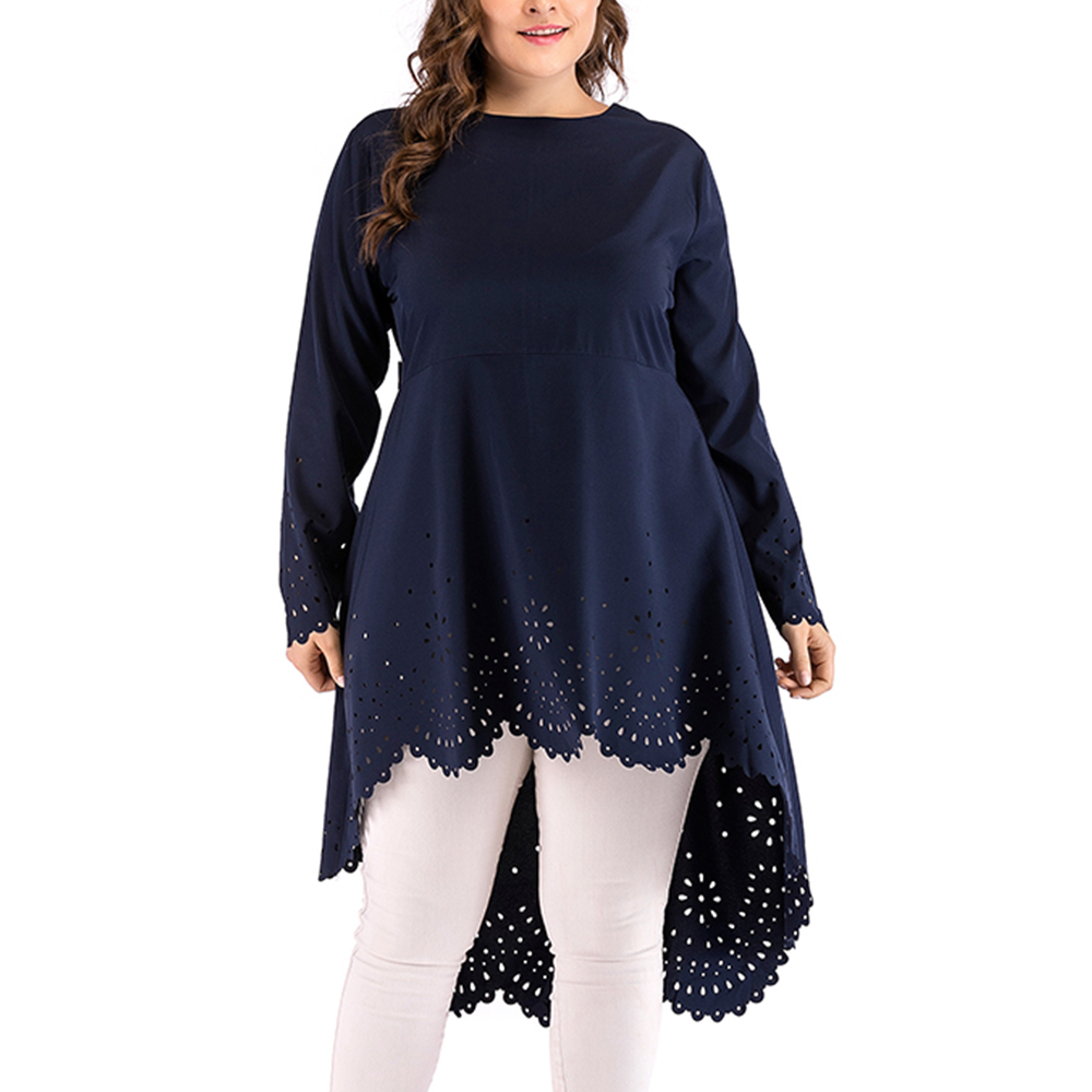 Big Size Fashion Asymmetrical Hem Dress Plus Size Evening