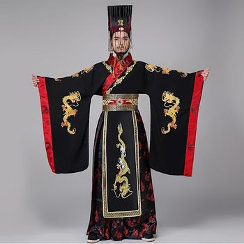TV Play Male Emperor Costume Dragon embroidery gown Traditional ancient Chinese Hanfu men the Qin Dynasty Imperial dress new arrival film performance wear blue embroidered dragon brocade the qing dynasty prince clothes chinese ancient costume male
